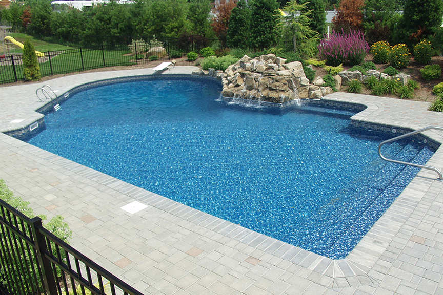 Geometric Pools Designs an interesting design of a medium sized geometric pool with round roman steps hydrotherapy wet deck area These Pools Feature The Elegant Timeless Designs That Have Become The Hallmark Of Our Geometric Pools Let These Ideas Inspire Your Own Dream Pool Design